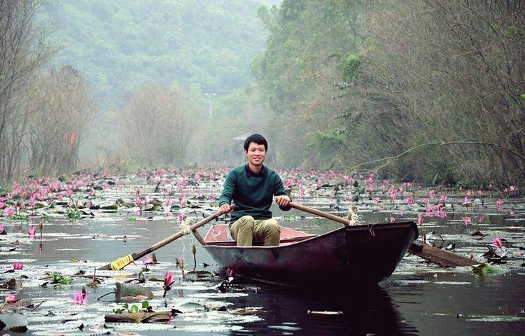 A spectacular field of nenuphar flower Flower Nenuphar Lanscape Photography Vietnam Hanoi Portrait