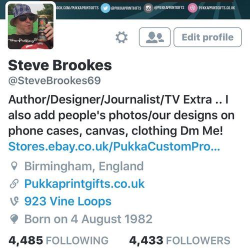 Pls #Follow my personal #Twitter .. @stevebrookes69 ill #followback right now. As online 😜 Twitter