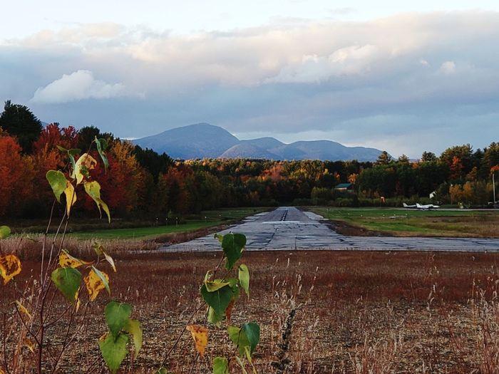 New Hampshire Runway Airplane Tree Water Mountain Sky Landscape Mountain Range