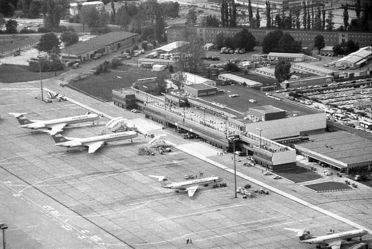 1990 Berlin Schonefeld Schönefeld Airport Aerial View Airplanes Airport Architecture Built Structure Day Outdoors Planes