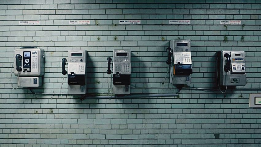 An old stuff which no one's looking for. Payphone Public Phone Underground No People Day Pay Phone Seoul
