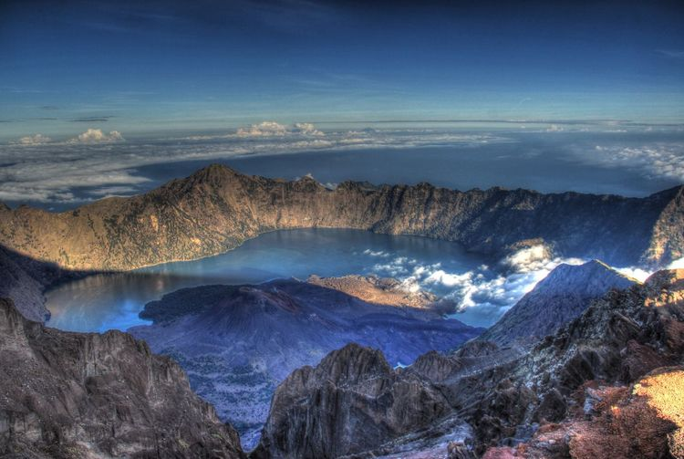 High Angle View Of Mount Rinjani