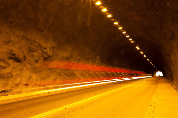 Traffic inside a tunnel near Vicuña in the Elqui Valley in Chile Chile Lights Motion Blur Traffic Valle Del Elqui Infrastructure Interior Streaking Light Tunnel