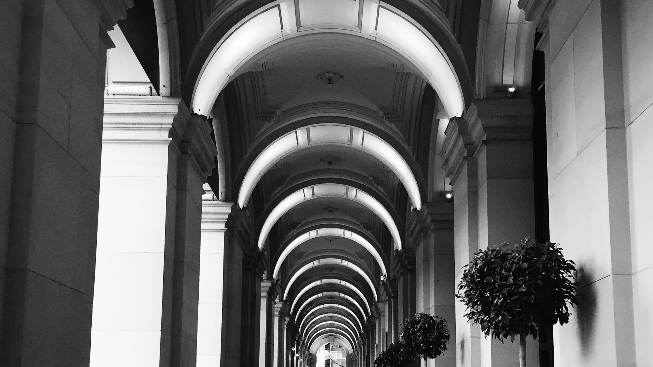 indoors, arch, architecture, built structure, architectural column, ceiling, place of worship, religion, corridor, church, column, spirituality, ornate, history, low angle view, in a row, architectural feature, interior, colonnade