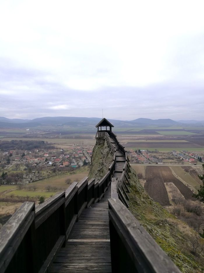 Sentinel Castle Boldogkőváralja Hungary Zemplén Mountains Perspective Horizont  Perspective Landscape Fortress Fortress Wall Fortress View HuaweiP9 Huawei P9 Leica Mobilephotography Mobile Photography Colors Bridge - Man Made Structure Building Exterior Cloud - Sky