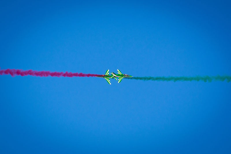 Head To Head Airshow Blue Clear Sky Flying Jet Planes Mid-air Vapor Trail First Eyeem Photo