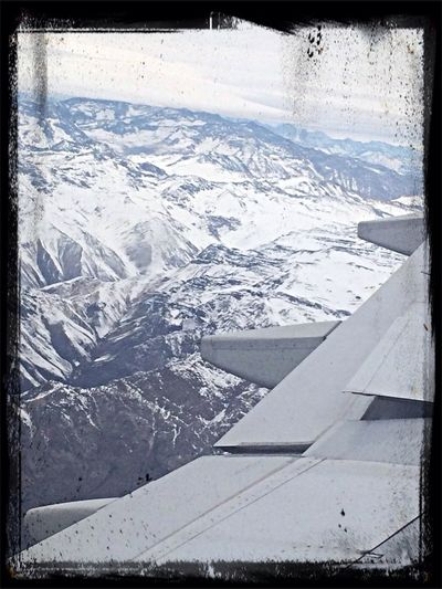 Procedure of descent in Chile. From An Airplane Window Hanging Out Hello World Check This Out