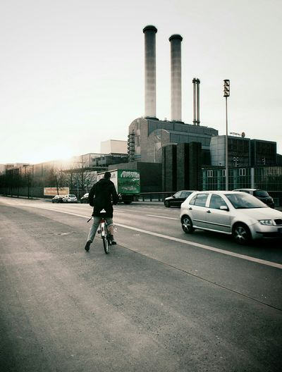 My Fuckin Berlin Streetphotography Showcase: December Architecture From My Point Of View Bicycle People Watching Power Plant Chimney