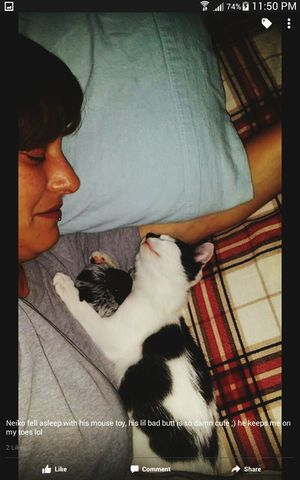 me and my baby Neiko when he was still little
