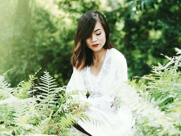 Shooting profiles where there are ferns? Um, yes. ❤ Portrait Nature Ferns Greenery Whimsical Fairytale  EyeEm Daily EyeEm Nature Lover