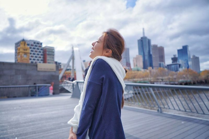 One the greatest achievement is when you are able to bring your loved one to her beloved city and you captured the moment of her joyful expression. Australia Melbourne City Couple Traveling First Eyeem Photo