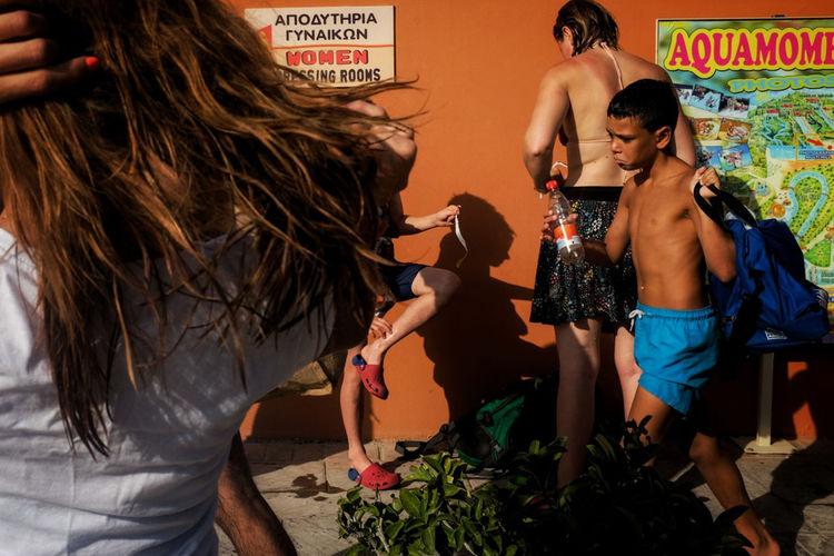 Corfu Group Of People Light And Shadow People Shadow Street Streetphotography Wacations