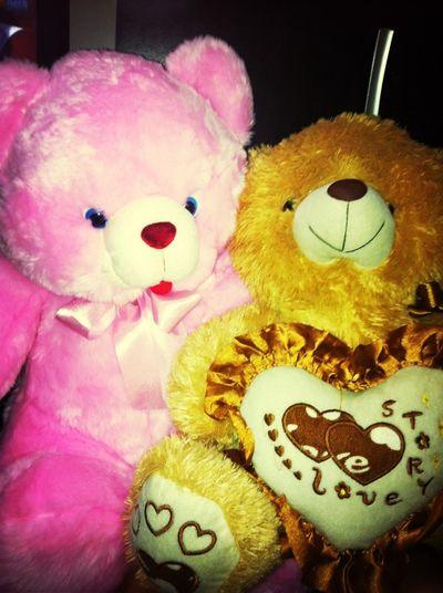 my two teddy bear always stay beside me
