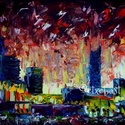 Urbanian Series. Oil. Canvas. Sample.