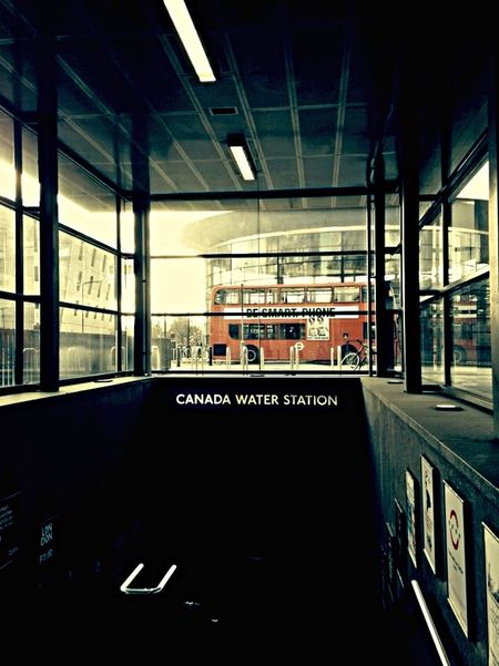 London Calling I Love London Canada Water Underground Mind The Gap London Tube Double Decker Bus Being A Tourist The Traveler - 2015 EyeEm Awards Colour Contrast