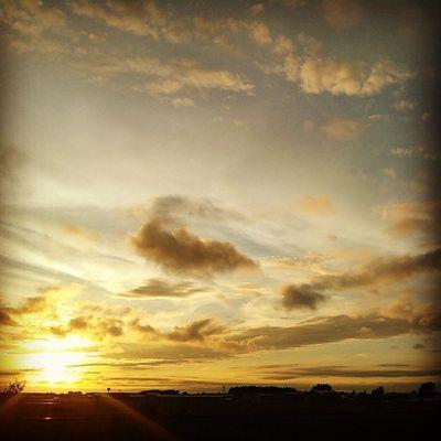 Beautiful Sunset LovinLife LightVsDark Airstrip Sunlight Evartmichigan Evartmi Northern Michigan Pure Michigan Michigan Thineownlife Clouds