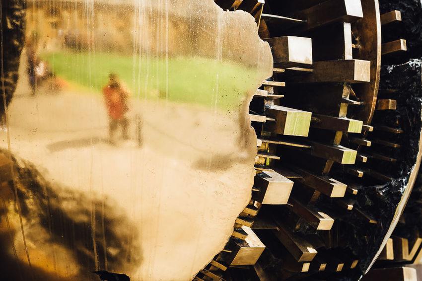 Golden Reflection Travel Outdoors Sculpture Travel Destinations