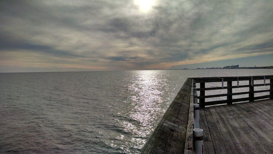 Cherry Grove Pier, SC Cherry Grove Pier Cherry Grove Ocean Sky Water Nature Pier Atlantic Ocean Beach