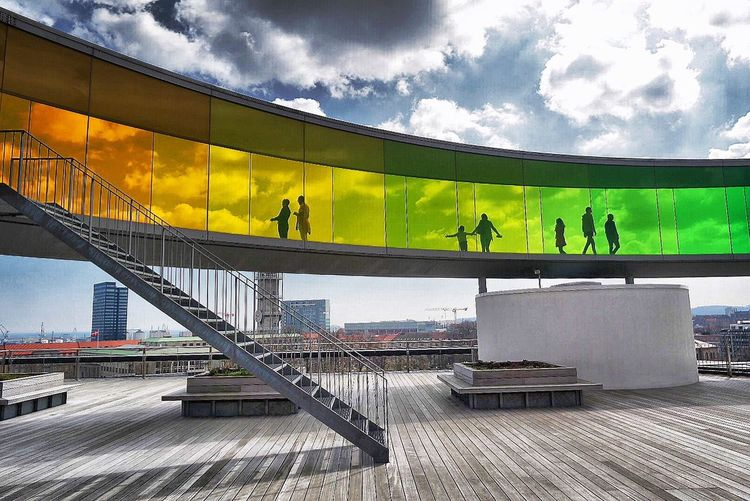 ARos Museum, Aarhus Architecture Cloud - Sky Sky Built Structure Outdoors Men Large Group Of People Day People Adults Only Adult Aarhus, Denmark ARos Art Museum