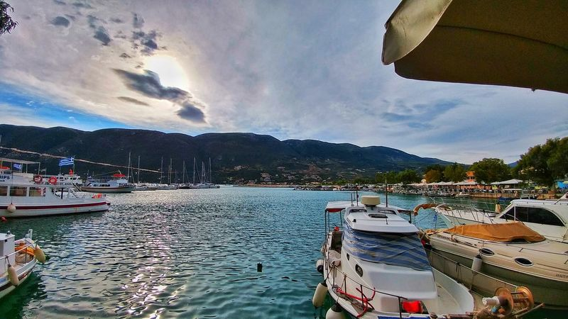 Water Mountain Cloud - Sky Outdoors Day Sky No People Nautical Vessel Lake Nature Boats⛵️ Lefkas Vassiliki Summer Vacations