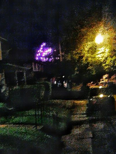Just Now ❤✌ At The End Of My Street Fireworks! Impressionism