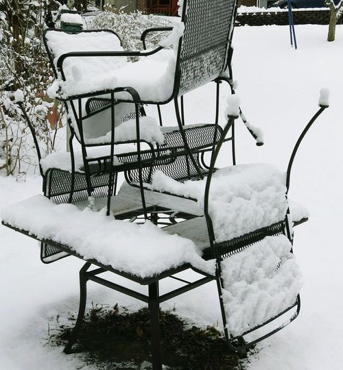 How's The Weather Today? Have A Seat Empty Chairs Wintertime