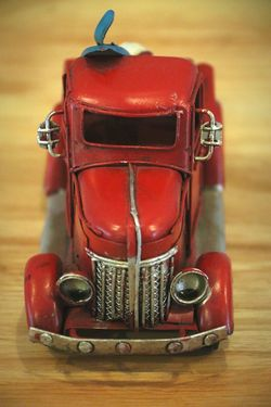 Old-fashioned Indoors  No People Red Car Car Models... Car Model Cars Red Toy Toys