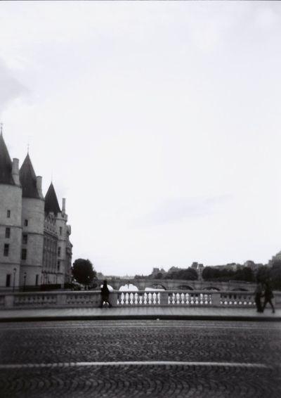 Paris, France  Streetphotography Summer Lomography Holga Blackandwhite Bridge Walking Around Sky Paris