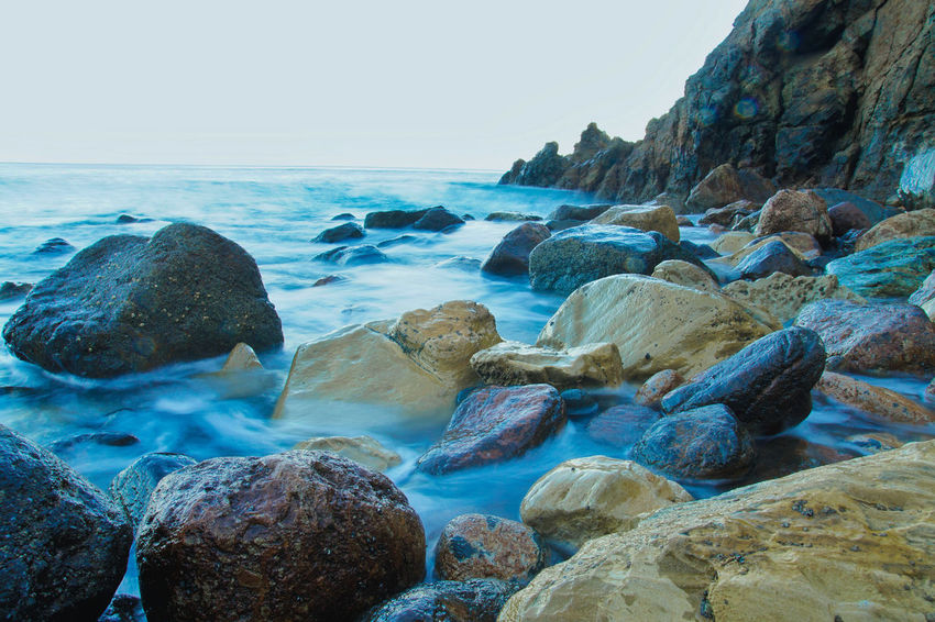 malibu ,california Sea Beach Rock - Object Water No People Horizon Over Water Outdoors Day Nature Scenics Beauty In Nature Sky