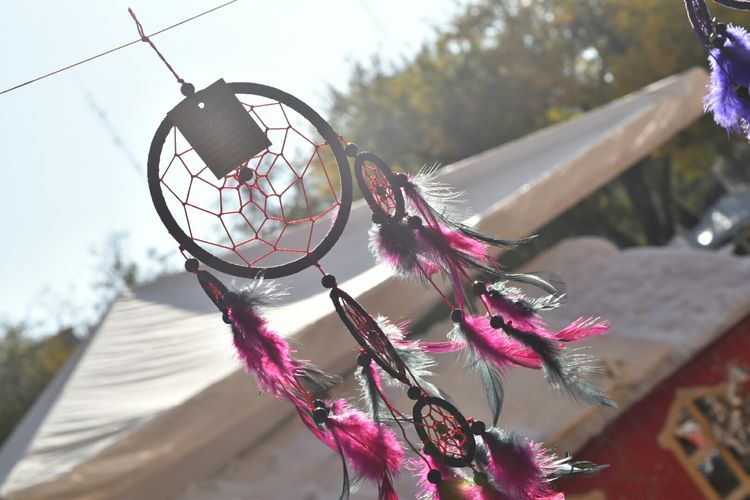 Tilt Shot Of Dreamcatcher