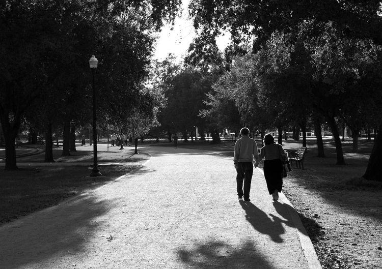 Love Walk Blackandwhite Elderly Leisure Activity Park People Real People Togetherness Walking