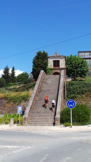 Camino CaminodeSantiago El Camino De Santiago Jakobsweg Pilgern Pilgrimmage Road Track Way Of Saint James Weg Treppen Stufen Stairs Stairway Stairways Portomarin