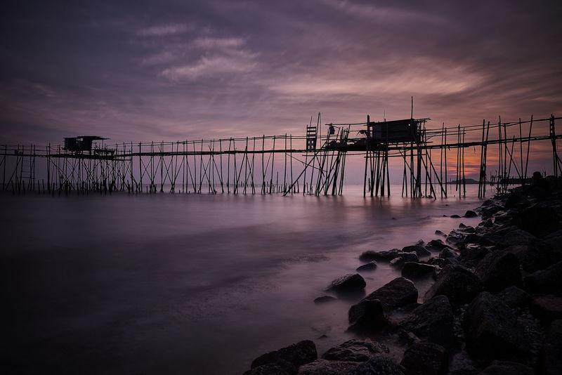 Fishing Village Kelong Sony A7RII Batupahat Batupahatjohor Beach Photography Sunset Water