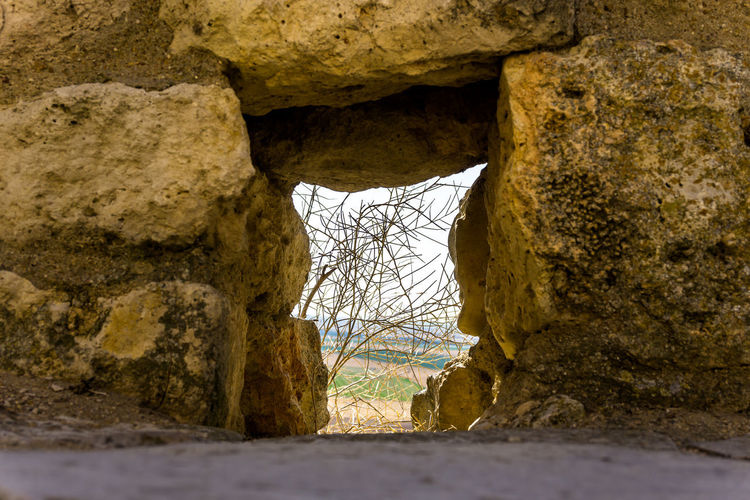 Day Daylight Outdoors Architecture No People Solid Rock - Object Rock Nature Rock Formation Built Structure History Cave Hole Textured  The Past Wall Wall - Building Feature Rough Land Capture Tomorrow