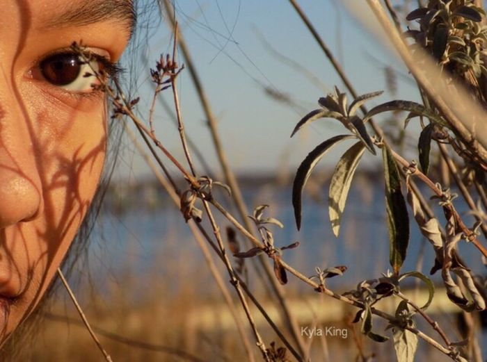 Close-up One Person Sky Agriculture Outdoors Nature Eye Young Adult People Growth Nikon