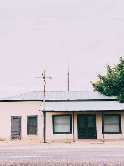 Valentine, Texas Valentinetexas Texas EyeEm Selects Built Structure Building Exterior Architecture Building Nature Day Plant Tree Sky No People Land Outdoors House Entrance Sunlight