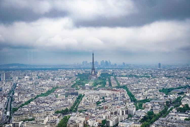 Paris Paris, France  Tour Eiffel Tourreeiffel Eiffelturm France City Cityscape Aerial View Monument History Sky Architecture Cloud - Sky Built Structure Adventures In The City
