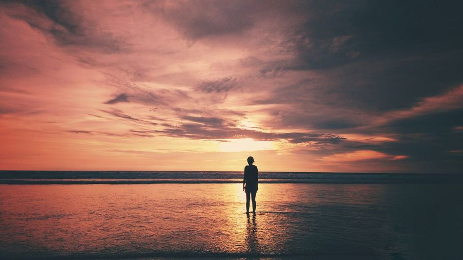 SUnset in Seminyak beach Bali Sunset Water Cloud - Sky Scenics - Nature Beauty In Nature Silhouette Beach Nature Outdoors