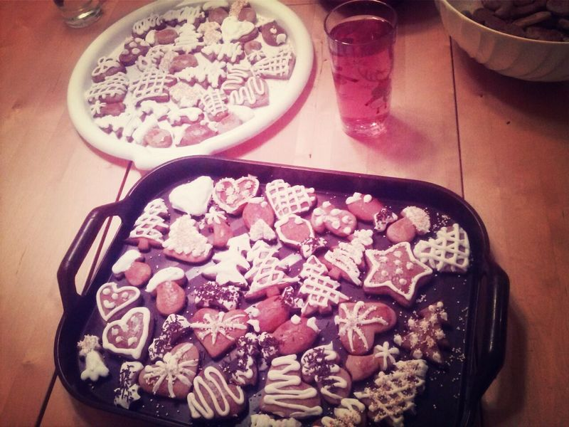 Christmas Time Christmas Cookies Taking Photos Follow4follow haha by me :) who wants one ? :-*