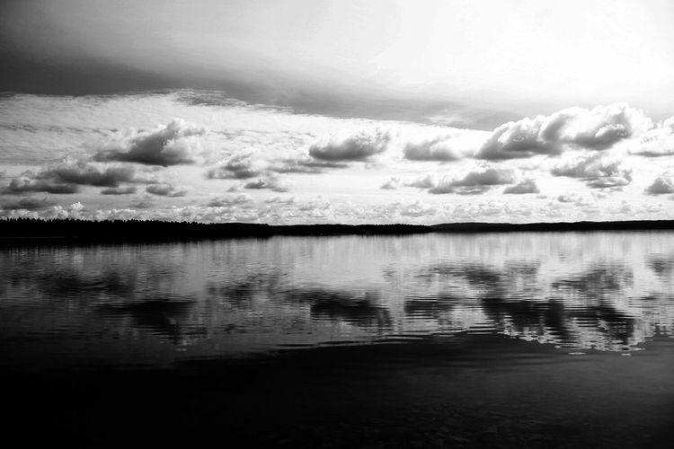 Sweet Sweden Nature_collection Blackandwhite Black & White Bw_collection Monochrome Enjoying The View Eeyem Nature Lover EyeEm Best Shots Water Reflections Sky_collection Skyporn