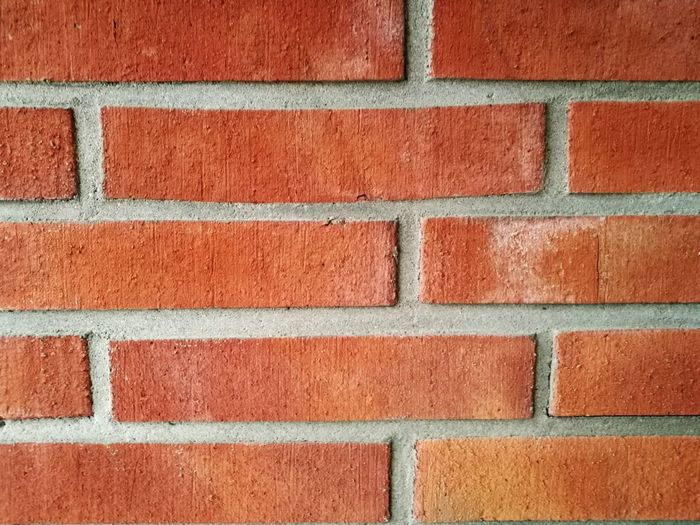 Wall - Building Feature Full Frame Brick Wall Pattern Backgrounds Built Structure No People Outdoors Close-up Red Textured  Building Exterior EyeEm Selects