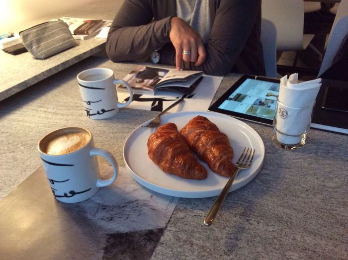 크루아상 Cafe Latte