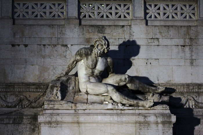 Ancient Architecture Art Art And Craft ArtWork Building Exterior Creativity Day Famous Place History Human Representation In Front Of Memories Monument No People Old Outdoors Sculpture Shadow Statue Stone Stone Material The Past Wall - Building Feature Zeus