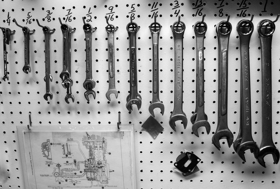Black & White Black And White Black And White Photography Blackandwhite Blackandwhite Photography Candid Close-up Indoors  Large Group Of Objects Minimalism No People Objects Tools Wrenches