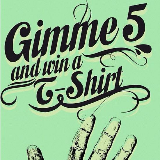 Gimme 5 and win a T-Shirt! Go to our facebook fanpage and see how easy it is to win a shirt! #win #drmtm #raffle #gimme5 #facebook Facebook Win Drmtm Raffle Gimme5