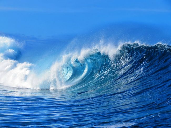 UnderSea Wave Sea Water Power In Nature Blue Motion Sky A New Beginning
