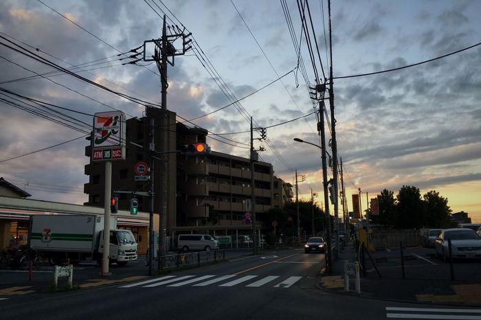 Dusk in Nerima Tokyo Japan