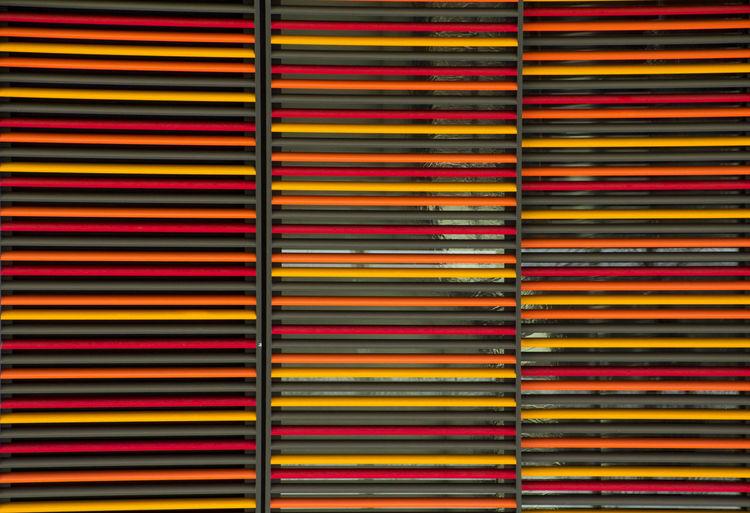 Full frame shot of multi colored window