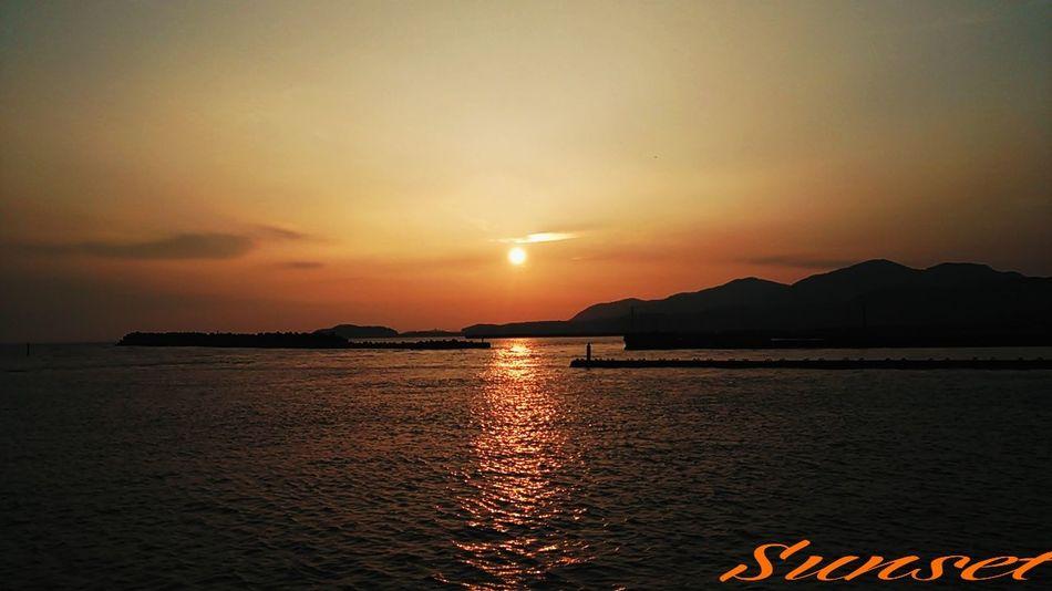 久し振りの…お日様~(^o^) Miyazaki Kushima Relaxing Sunset Yuka  Enjoying Life Fresh Air 夕凪