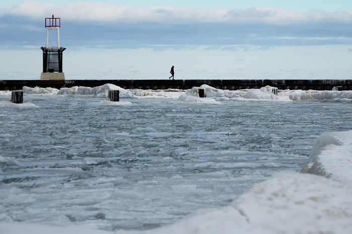 Beach Chicago Lakefront Cold Off Season Outdoors Pier Power In Nature Solitude Water Winter Landscapes With WhiteWall Blue Wave The Great Outdoors - 2016 EyeEm Awards